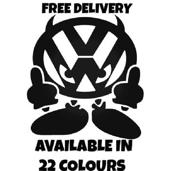 VW DEVIL Vinyl Car Sticker VW Van Camper Hippy Decal MEDIUM 160mm x 150mm